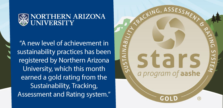 NAU Rises to STARS GOLD Sustainability Rating